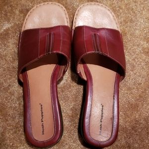 Slide -on sandles (Hush Puppies)